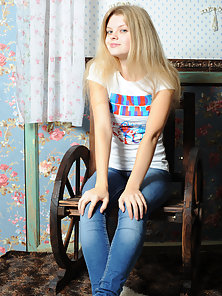 Slender teen girlfriend make the day brighter with her bewildering outlook. Slim, doll like, beautif