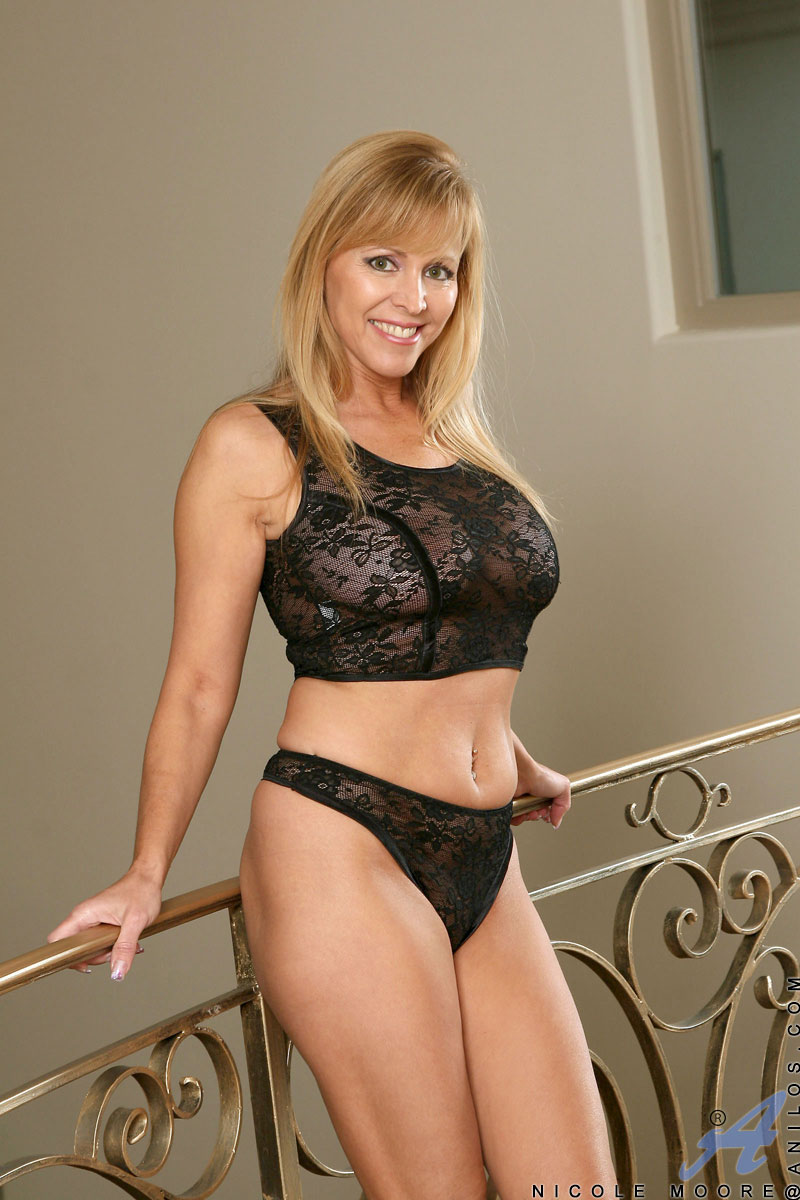 Sheer lace nicole moore cougar