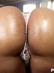 Petite black girl with big bubble butt