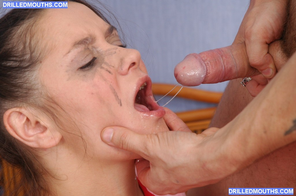 video brunette face fucked hard
