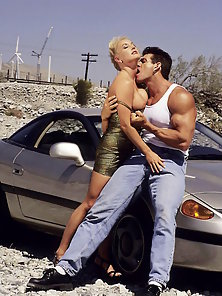 Hot Blonde Having Sex On Car With Dude W Huge Cock