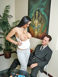Busty office slut Carmella Bing takes a nasty pounding