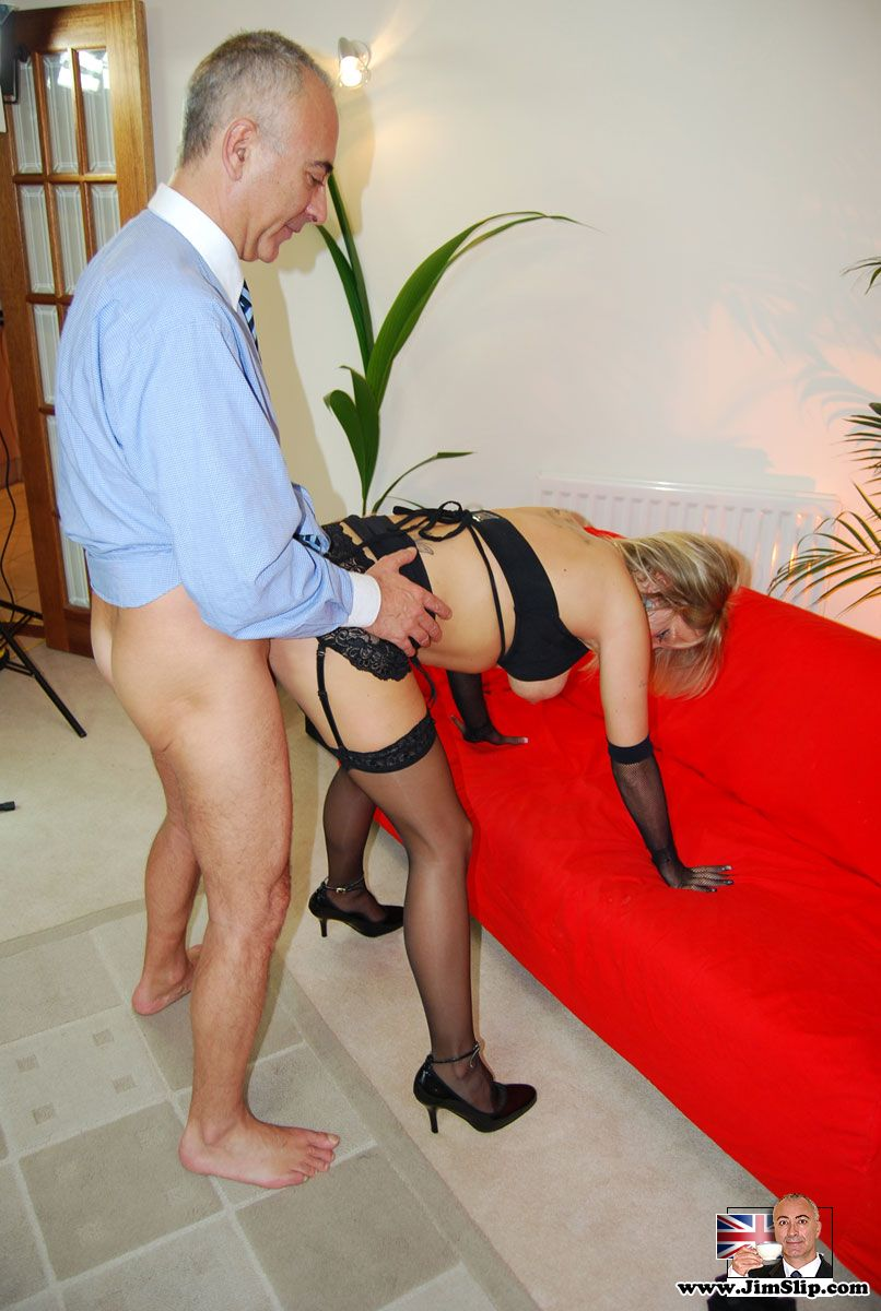 British stocking slut fucked by the old and dirty Jimslip ...