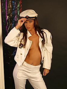 Susana Spears strips her sexy marine uniform