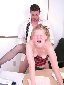Slutty school girl shows how much she likes her counselor