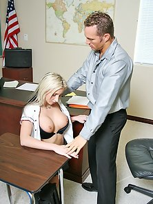 Young tight school girl fucks and sucks a cum load out of her teachers dick