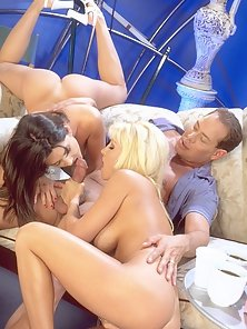 Jill Kelly in a threesome with sexy Stephanie