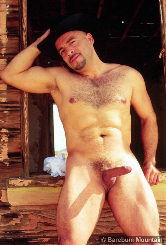 Two Sexy Cowboys Posing Naked Together - Ass Point-9715