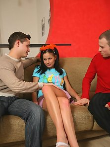 A stunning chick loves it when guys take her from behind and stick their hard members right in her t