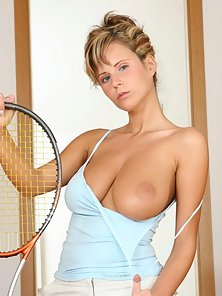 Tennis bunny Raylene wants you to serve her your balls