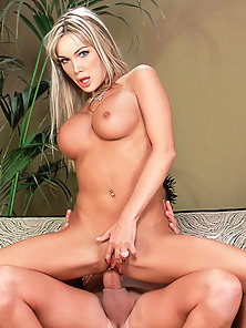 Blonde girl Devon riding a fat cock