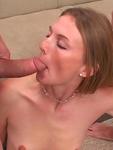 Stunning Blonde Gives Amazing Blowjob and Gets Pierced Slit Hardly Hammered