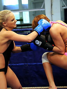 Cipriana and Barbie both newbies in boxing ring