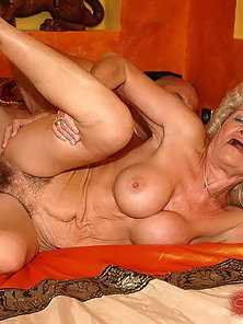 Huge titted blonde granny fucking with young guy