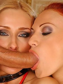 Russian honeys in anal 3some