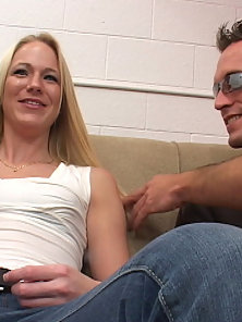Super Passionate Blonde Lady Sucks and Gets Fucked By Huge Cock