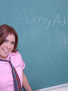 Sweet innocent schoolgirl has her ass taught a lesson on teachers desk