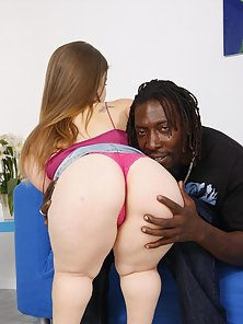 Midget Takes On A Huge Black Cock