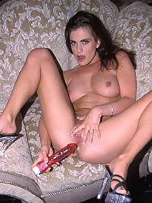 Betty Blude totally nude dildo fucks her pierced pussy good