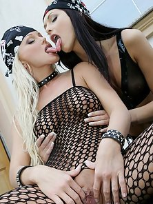 Silvia Saint sees how the do feels on two wheels