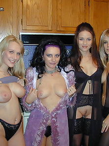 Friends get together for a sex party