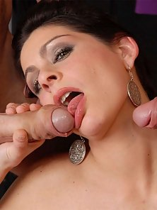 Horny Brunette Mora Gets Anal Fucked by Toy and Facialized by Meaty Pole
