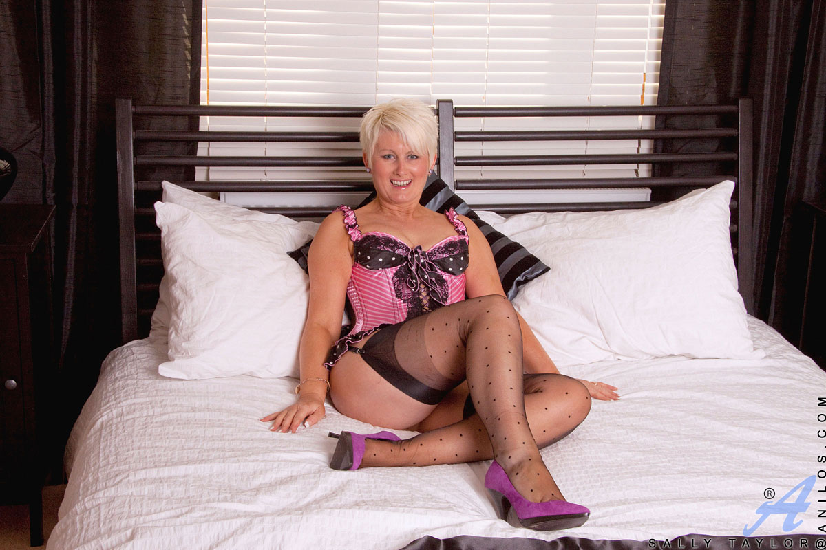 gallery honey blonde milf sally taylor teases us with her sexy hot lingerie in her bedroom PLYjsVerf