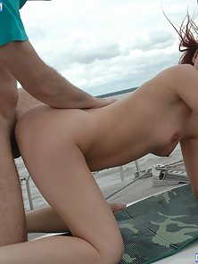 Tight redheaded teen stretched with a thick cock