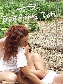 Eve and Keesha blow a peeping tom in the woods
