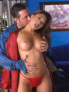 Asian pornstar takes a long dick deeply into her throat