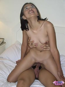 Shaved Filipino slut in white lingerie gets banged and cumfaced