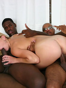 White girl in a black gangbang