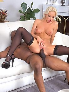 Silvia Saint sucks and fucks a black cock