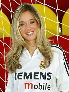Slim Blonde Love Madrid Football
