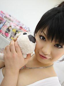 Horny Asian Akane Ozora is so hungry she sucks cock in a grocery