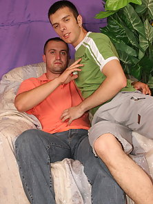 Handsome Boys Kenneth and Isaac Enjoying Hot Gay Sex on Couch