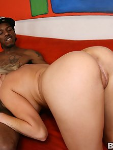 Huge black cock drills a tight young white blonde bitch with nice tits!