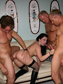 Big Ass Brunette Renee Pornero Banged By Three Long Cocks