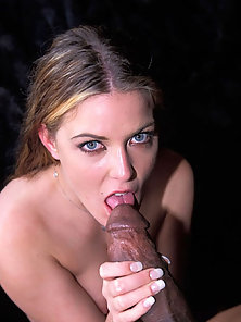 Sexy babe takes on big black cock