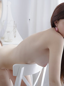 Stunning Teens Getting Naked While Kissing then Fingering Shaved Twat