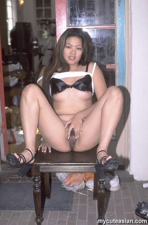 Chubby asian hairy pussy
