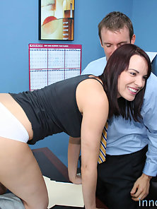 Sexy Dana is bent over and desk and taughtthe real meaning of discipline