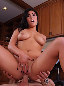 Hot asian with big natural tits