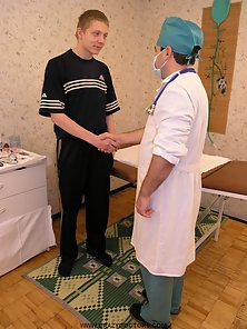 Nasty doctor explores guys body and dick. Wise doctors take care of lusty guys with big cocks.