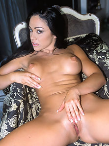 Bigtit brunette babe using all kinds of dildos and toys