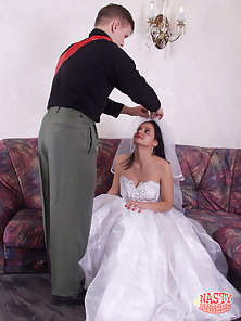 On her wedding night a nineteen year old bride gets drilled hard and swallows cum.