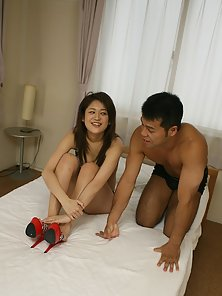 Japanese teenager enjoys several big spunk loads on her face