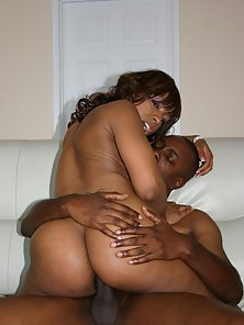 Black beauty gets plump ass pounded by meaty black cock