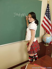 Sweet little teen school girl begs her teacher to spank her perfect ass