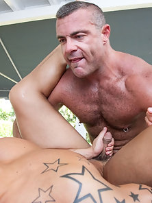 Giving this hot guy the rub and tug he'll never forget!